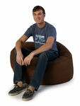3 ft Classic Saxx Bean Bag - Chocolate Microsuede [10836113-FS-STOP]