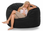 Jaxx Classic Saxx 5 ft Bean Bag - Black Microsuede