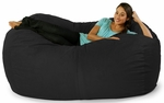 5.5 ft Lounger Bean Bag - Black Microsuede [10813187-FS-STOP]