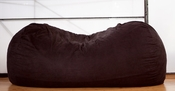 Jaxx Sofa Saxx 7.5 ft Bean Bag - Black Microsuede