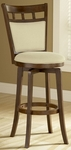 Jefferson Wood 30'' Bar Height Stool with Ivory Swivel Seat - Brown Cherry [4975-830-FS-HILL]