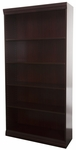 Jefferson Traditional Wood Veneer Bookcase with Adjustable Heavy Duty Shelves - Mahogany [JE30EXCMH-NIND]