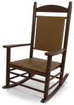 POLYWOOD® Jefferson Woven Rocker - Mahogany Frame / Tigerwood [K147FMATW-FS-PD]