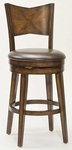 Jenkins Wood 26.5'' Counter Height Stool with Brown Vinyl Swivel Seat - Rustic Oak [4477-826-FS-HILL]