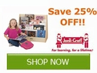 Save 25% off select Jonti-Craft by