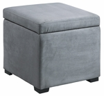 Judith Ottoman w/ Jewelry Storage - Grey [40520GRY-01-AS-FS-LIN]