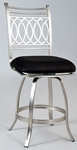 Julia Memory Return Swivel Bar Stool in Black Suede [JULIA-BS-FS-CTY]