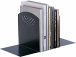 10.5'' H Jumbo Bookends for Desk Organization - Black [3115BL-FS-SAF]