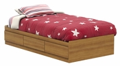Jumper Collection Twin Mates Bed (39'') Harvest Maple