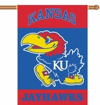 Kansas Jayhawks 2-Sided 28'' X 40'' Banner with Pole Sleeve [96014-FS-BSI]