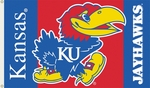 Kansas Jayhawks 3' X 5' Flag with Grommets [95014-FS-BSI]