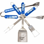 Kansas Jayhawks 4 Pc Bbq Set [61014-FS-BSI]
