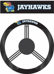 Kansas Jayhawks Poly-Suede Steering Wheel Cover [58529-FS-BSI]