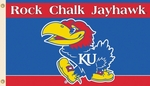 Kansas Jayhawks 'Rock Chalk' 3' X 5' Flag with Grommets [95514-FS-BSI]
