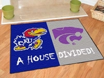 Kansas - K-State House Divided Rugs 34'' x 45'' [6130-FS-FAN]