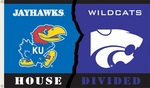 Kansas - Kansas St. 3' X 5' Flag with Grommets - Rivalry House Divided [95814-FS-BSI]