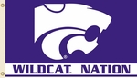 Kansas State 'Wildcat Nation' 3' X 5' Flag with Grommets [95218-FS-BSI]
