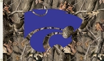 Kansas State Wildcats 3' X 5' Flag with Grommets - Realtree Camo Background [95418-FS-BSI]