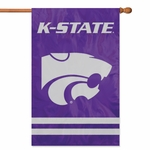 Kansas State Wildcats Applique Banner Flag [AFKSS-FS-PAI]