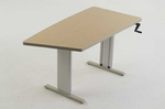 Keel Sit-to-Stand Workstation with Hand Crank Adjustment [AC-KEEL-ADAS]