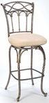 Kendall Metal 30'' Bar Height Stool with Fawn Faux Suede Swivel Seat - Pewter and Antique Bronze [4708-831-FS-HILL]