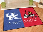 Kentucky - Louisville House Divided Rugs 34'' x 45'' [7106-FS-FAN]
