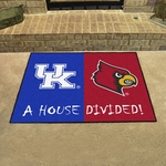 Kentucky - Louisville House Divided Mat 34'' x 45'' [7106-FS-FAN]