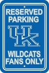 Kentucky Wildcats 12'' X 18'' Plastic Parking Sign [50230-FS-BSI]