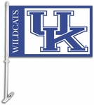 Kentucky Wildcats Car Flag with Wall Brackett [97010-FS-BSI]