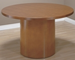 OSP Furniture Kenwood Hardwood Veneer 42'' Round Table with Cylinder Base [KEN58-FS-OS]