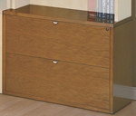 OSP Furniture Kenwood Hardwood Veneer Lateral File with Curved Metal Drawer Pulls [KEN12-FS-OS]