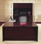 OSP Furniture Kenwood Hardwood Veneer Simple Executive Suite with Curved Metal Drawer Pulls [KEN-SUITE1-FS-OS]