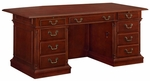 Keswick 72'' W Bow Front Executive Desk - English Cherry [7990-36B-FS-DMI]