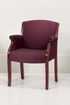 Keswick Guest Chair - Burgundy Fabric - English Cherry [6855-2205-FS-DMI]