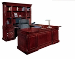 Keswick Left Executive U Desk - English Cherry [7990-38-FS-DMI]