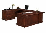 Keswick Left Lateral File U Desk - English Cherry [7990-538-FS-DMI]