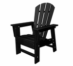 POLYWOOD® Kids Collection Casual Chair - Black [SBD12BL-FS-PD]