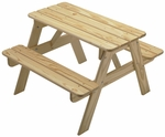 American Made Outdoor Child's Picnic Table - Unfinished [144-UNF-FS-LC]