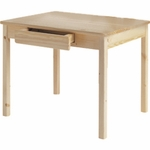 American Made Child's Wood Table with Storage - Unfinished [044-UNF-FS-LC]