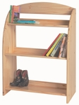 American Made Solid Knotty Pine Kid's Bookcase - Unfinished [067-UNF-FS-LC]