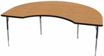 Kidney Shaped #223 Activity Table with Laminate Top and Phenolic Backer - 72''W x 36''D x 23.25-32.25''H [ACT7223-NSL]