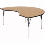 Adjustable Height Kidney Shaped Laminate Top Utility Table - 48''D x 72''W [A4872-KID-CRL]