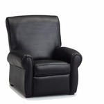 Big Kids Faux Leather Recliner - Black [DZD11949-FS-DD]
