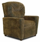 Kids Micro-Suede Theater Recliner with Cup Holder - Brown Bomber [DZD9949-FS-DD]