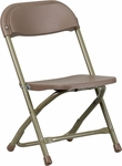Kids Brown Plastic Folding Chair [Y-KID-BN-GG]
