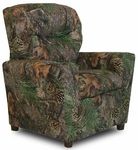 Kids True Timber Fabric Theater Recliner with Cup Holder - Camo Green [DZD9755-FS-DD]
