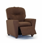 Kids Chocolate ''Suede'' Recliner [1300-1-CHS-FS-KW]