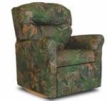 Kids True Timber Fabric Contemporary Rocker Recliner with Tufted Back - Camo Green [DZD10738-FS-DD]