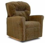 Kids Upholstered Contemporary Rocker Recliner with Tufted Back - Hot Chocolate [DZD10740-FS-DD]