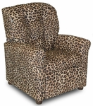 Kids 4 Button Tufted Back Upholstered Recliner - Cheetah [DZD10887-FS-DD]